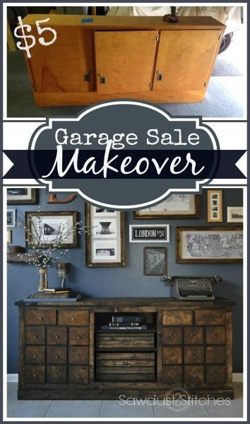 17 amazing garage sale makeovers do it yourself today pinterest put fake drawer fronts on doors to look like multiple small drawers solutioingenieria Choice Image
