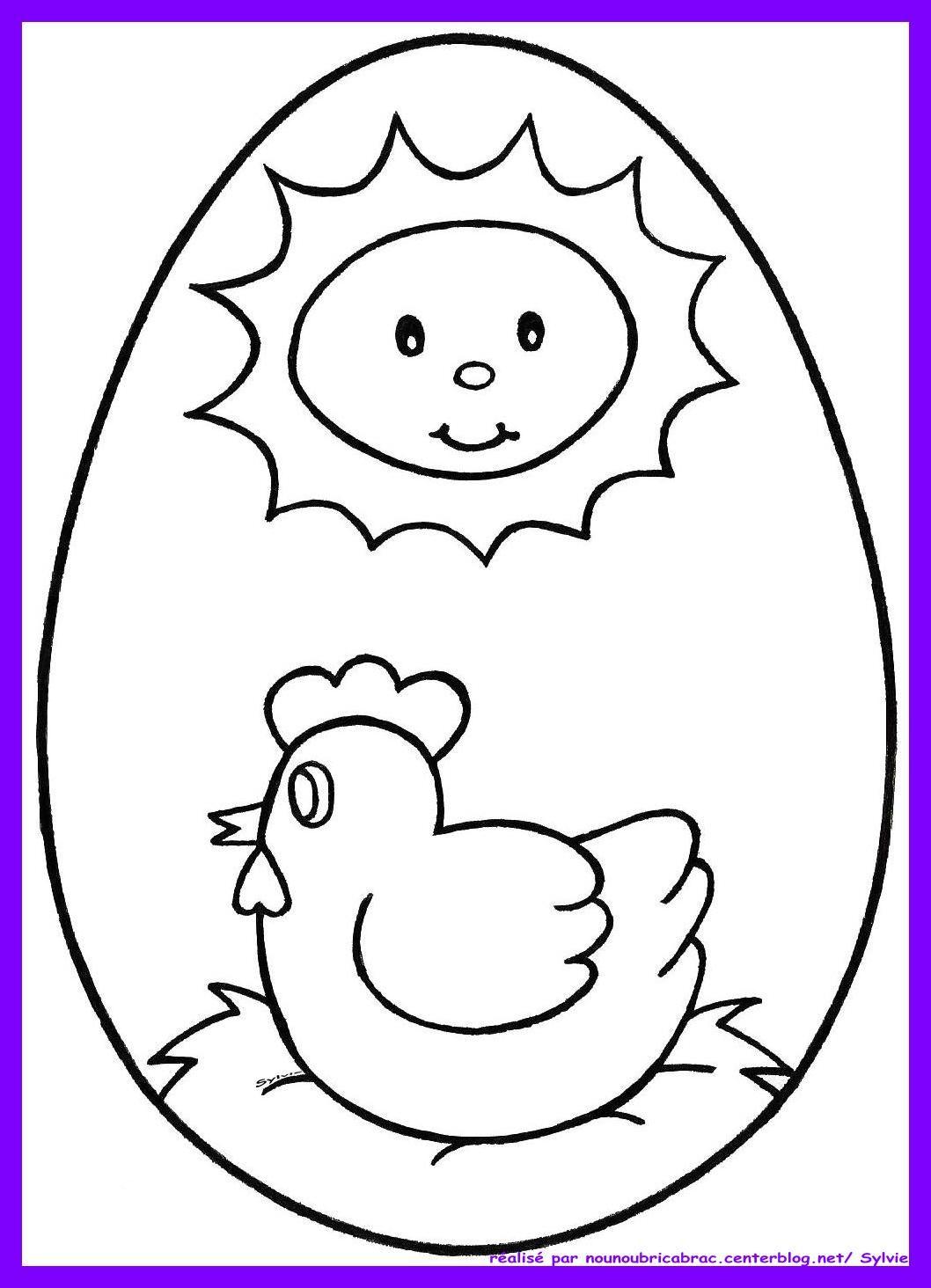 Oeuf de p ques poule sur son nid colorier p ques pinterest coloriage paques - Oeuf de paques a colorier ...