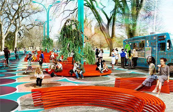 Denver City Park City Loop Denver Usa Urban Playground Landscape Architecture
