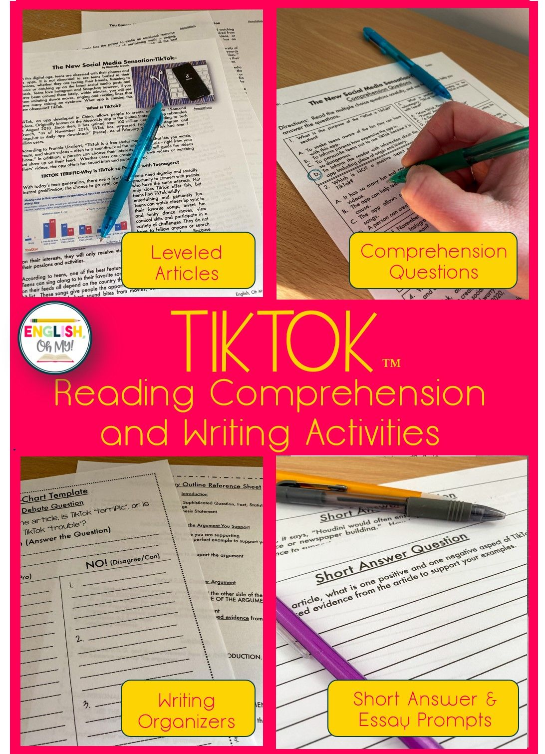 Tiktok Article Amp Reading Comprehension Questions