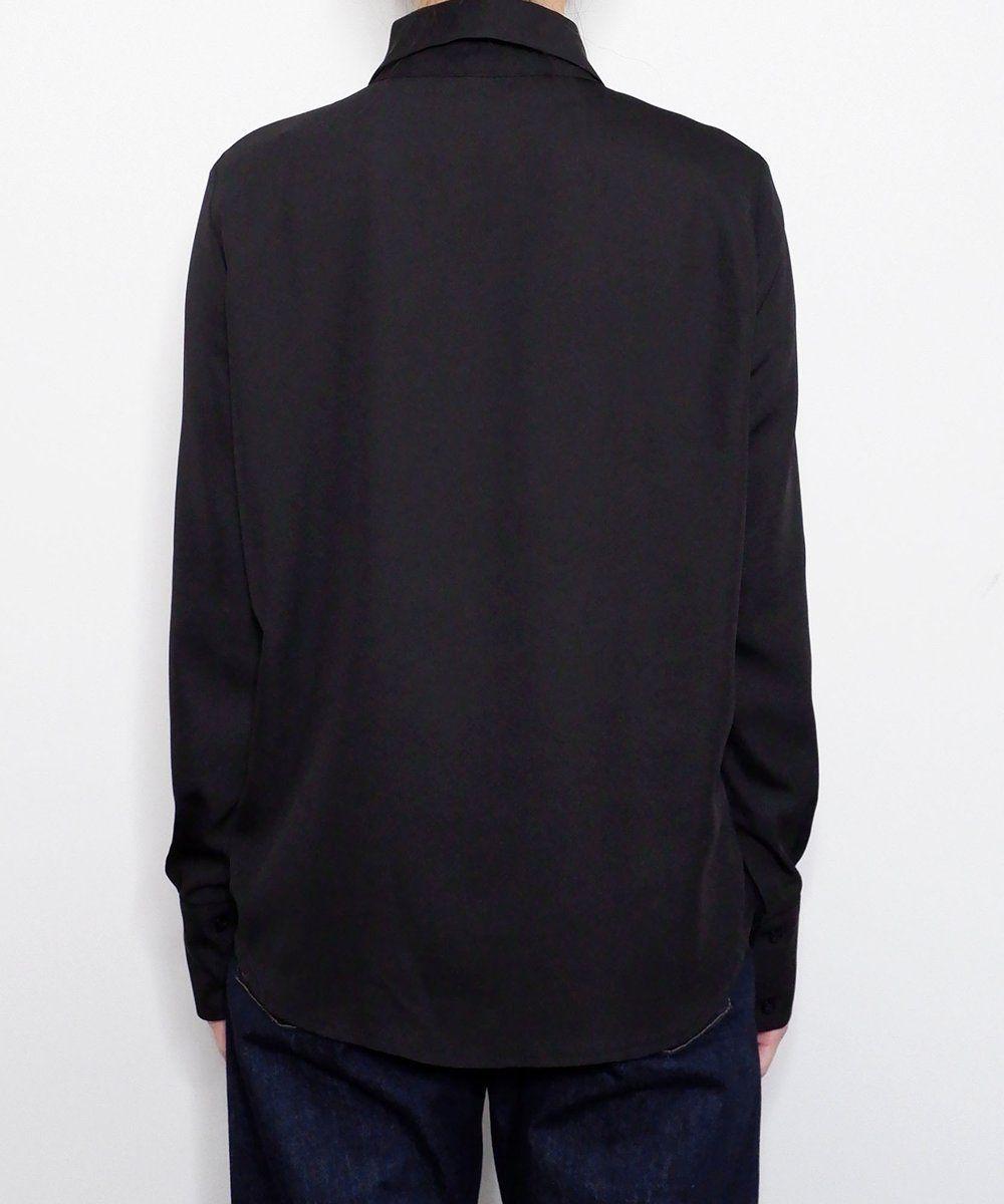 Big Pointed Collar Shirt Blouse Shirt Blouses Black Shirt Dress Classic Black Dress [ 1200 x 1000 Pixel ]