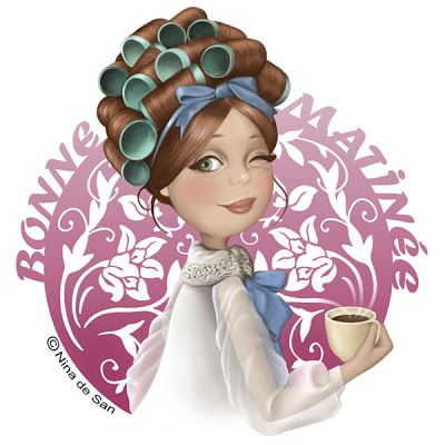 Good Morning! That is so me in the morning but with big electric rollers! hahaha....