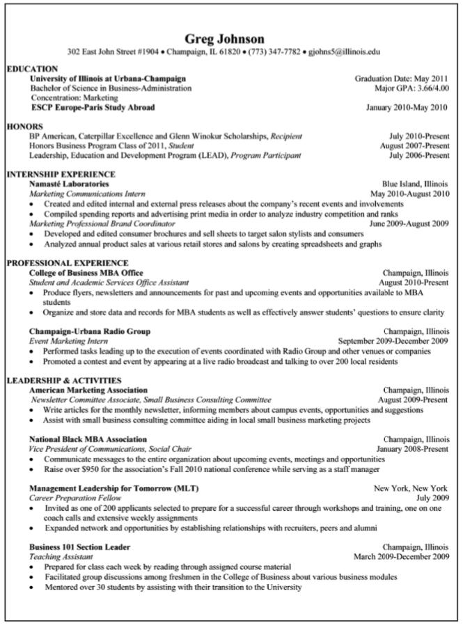 Event Marketing Intern Sample Resume Examples Resume Cv
