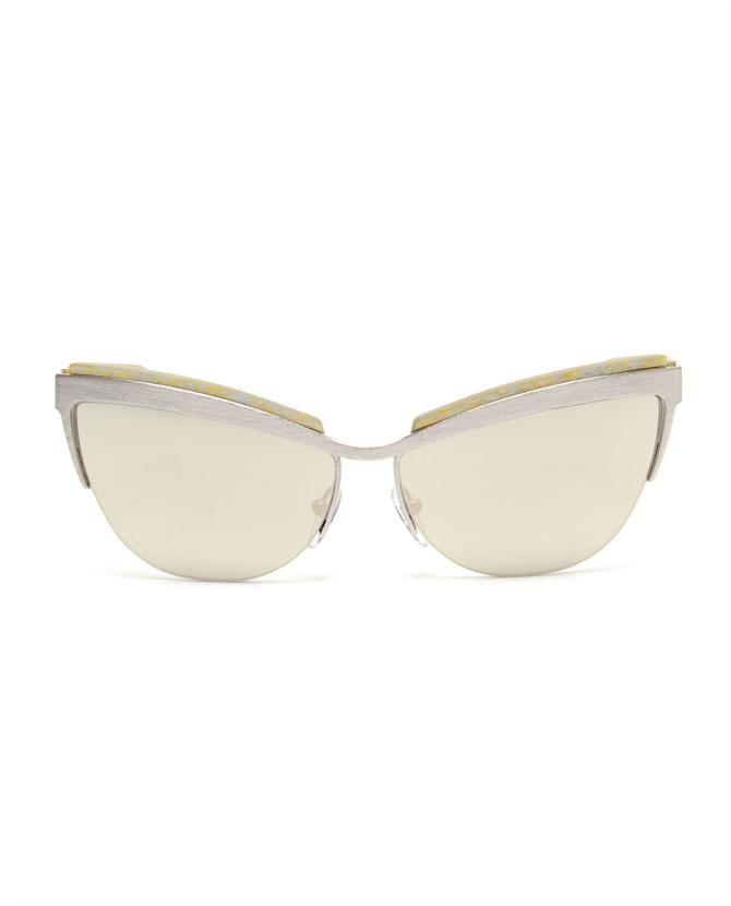 b17767781ae  Berlin  stainless steel cat-eye framed glasses by PRISM at Browns Fashion  for £310.00