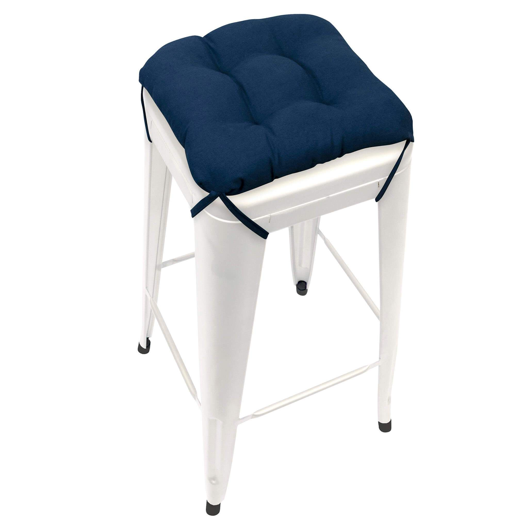 Cotton Duck Navy Blue Square Industrial Bar Stool Cushion 12 Bar Stool Cushions Industrial Bar Stools Bar Stools
