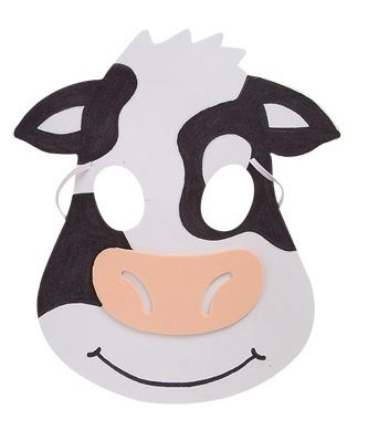 Simplicity image inside printable cow mask