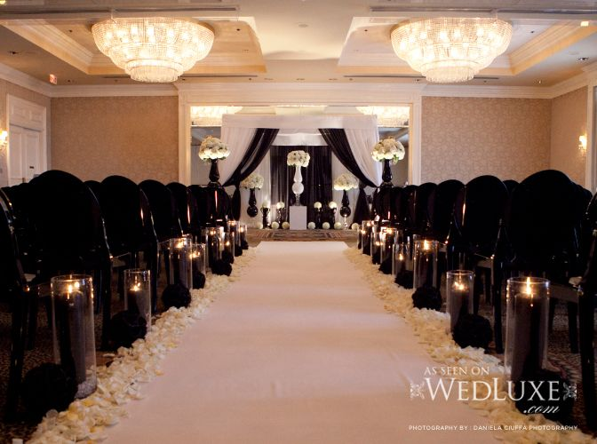 reception with black lace linens   linen The tables
