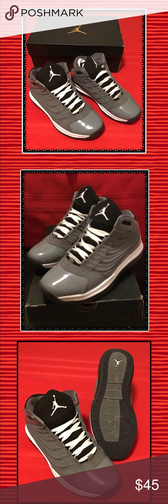 Nike Air Jordan Big UPS GS ..Grey White Beautiful Condition. Size 4 e0778a53c
