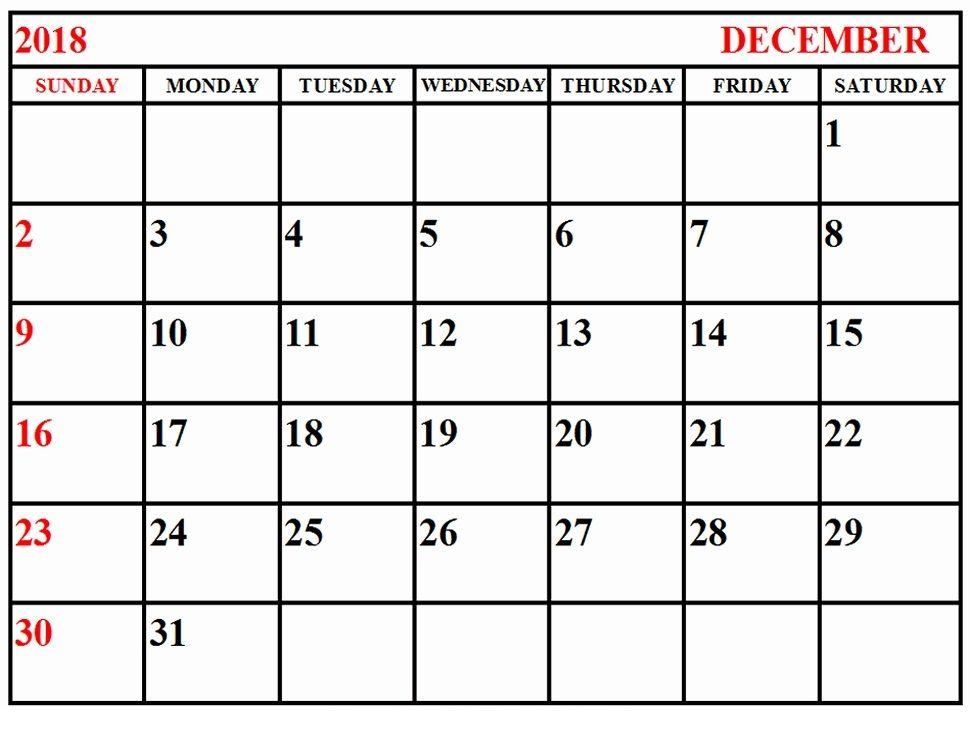 Free Printable Appointment Calendar December 2018 Uk Calendar For