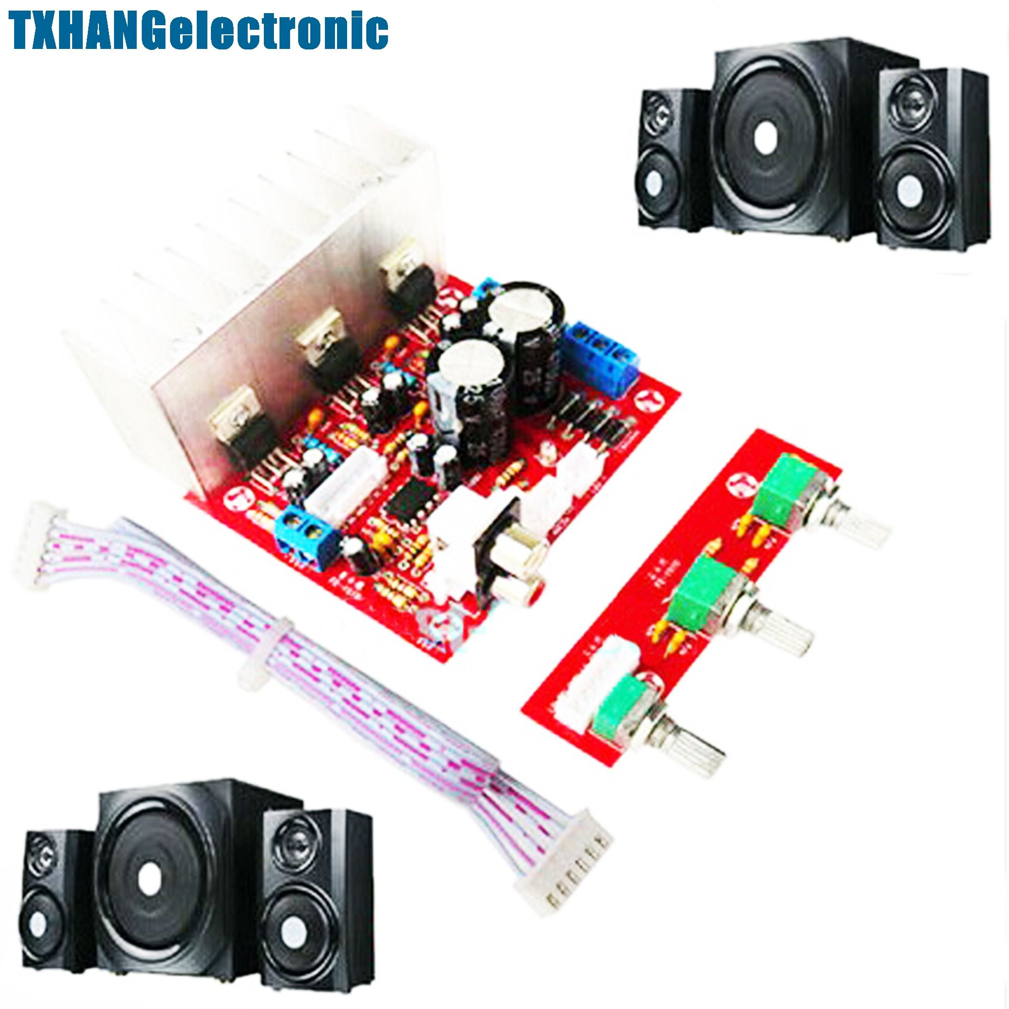 Tda2030a Super Bass 21 Power Amplifier Board 3 Sound Track Pc Easy Hifi Ocl 150w Rms By Transistor Electronic Projects Speaker Circuit