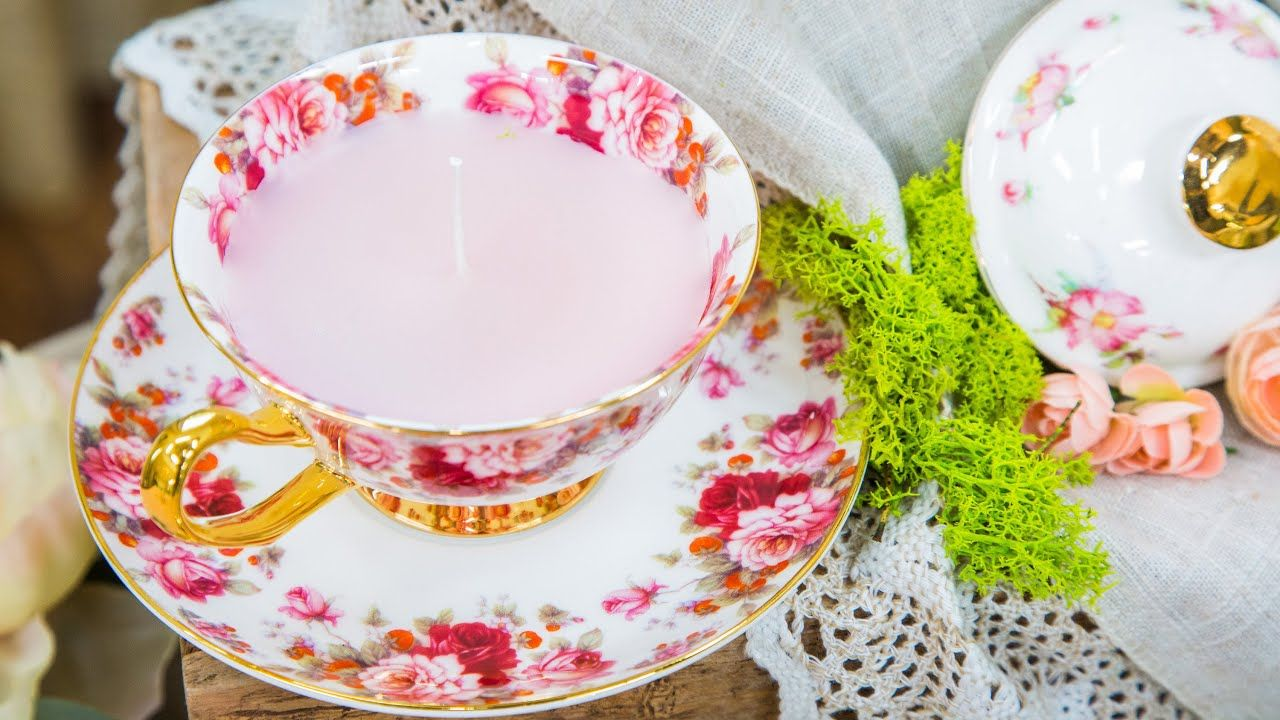 Diy tea cup candles home family diy coffee cup