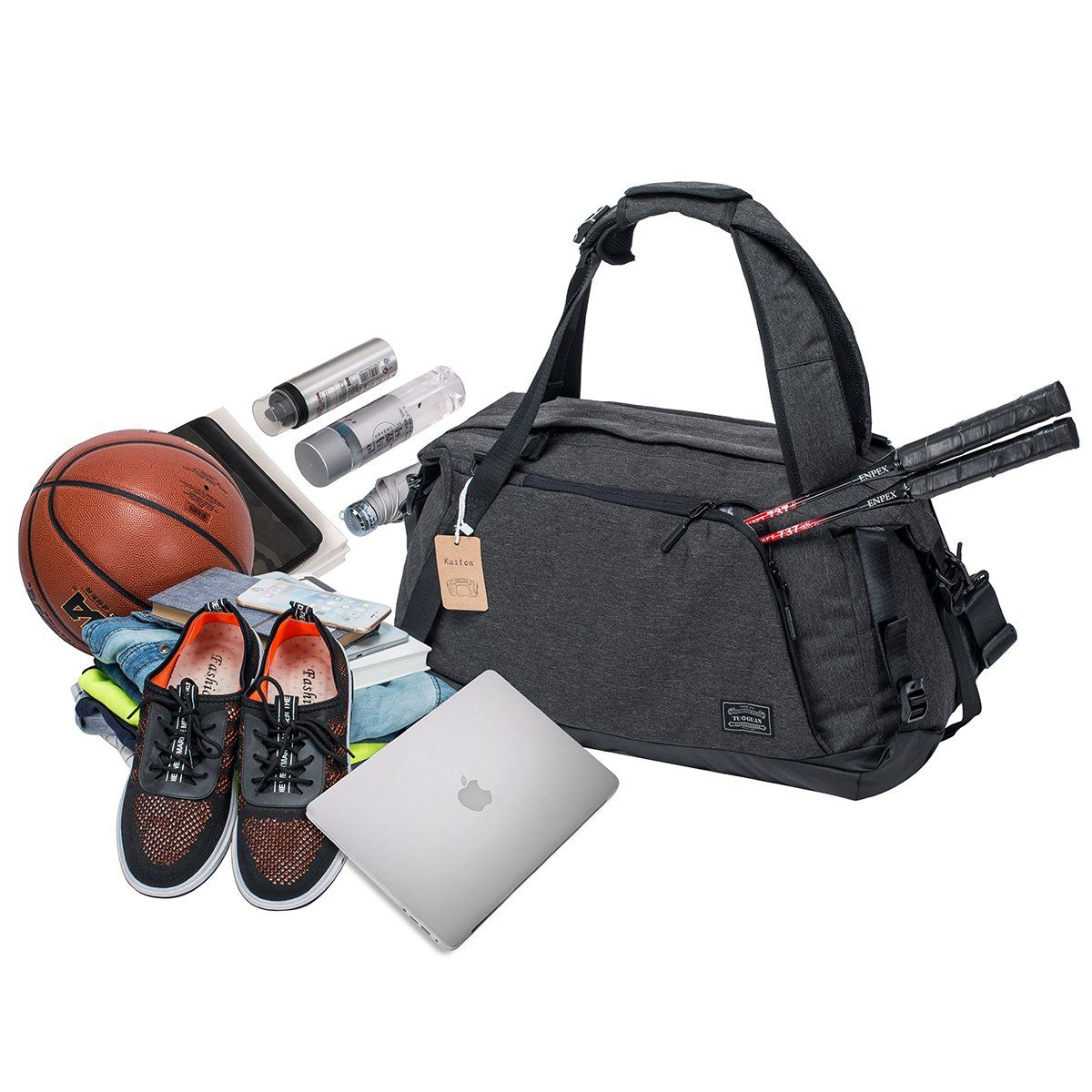 Sports Gym Bag with Shoes Compartment Travel Duffel Bag