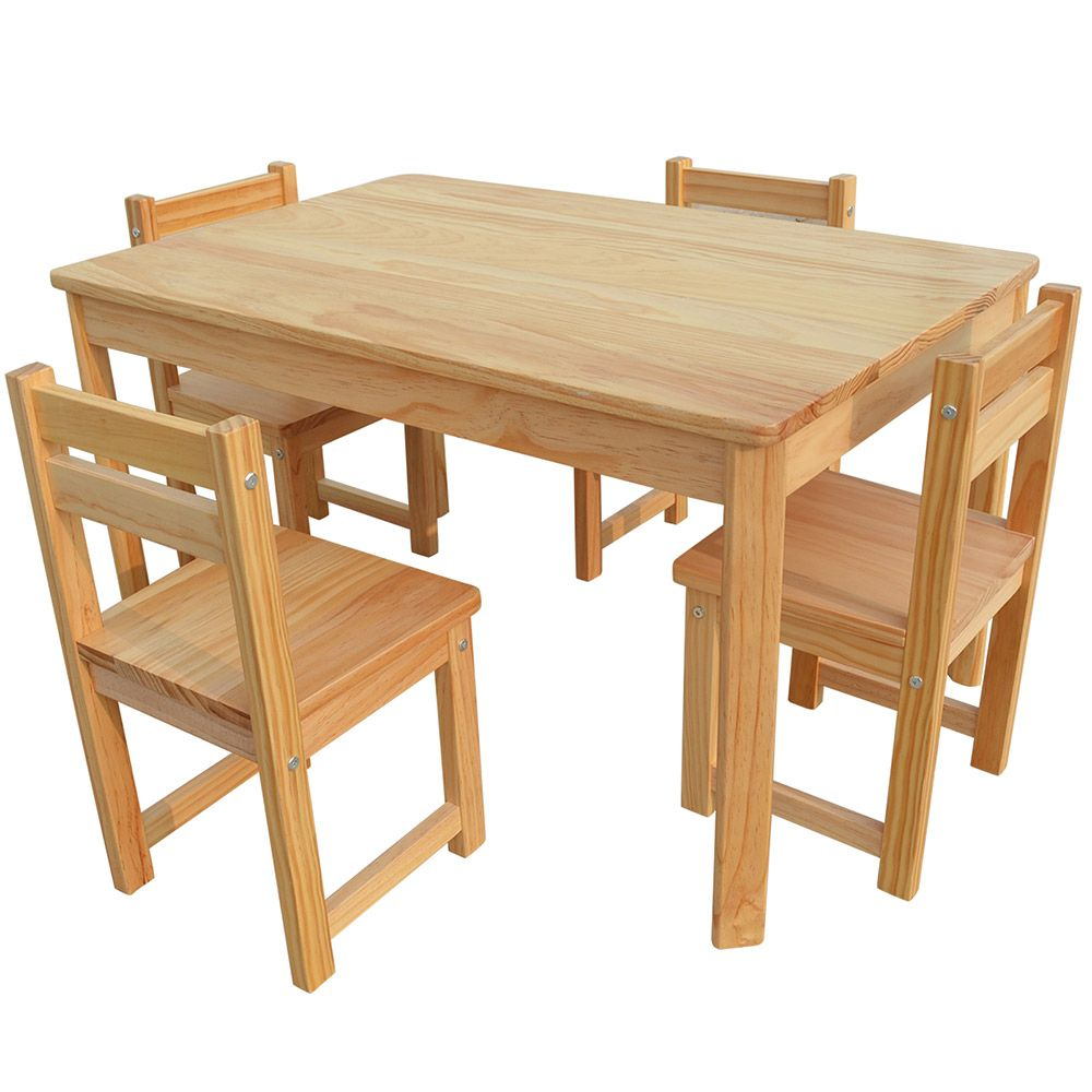 Kid table and chairs wood - Buy Luxo Tonto Long Kids Table And Chair Set Natural Online Australia