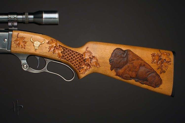 Click to close carved gunstocks guns carving firearms