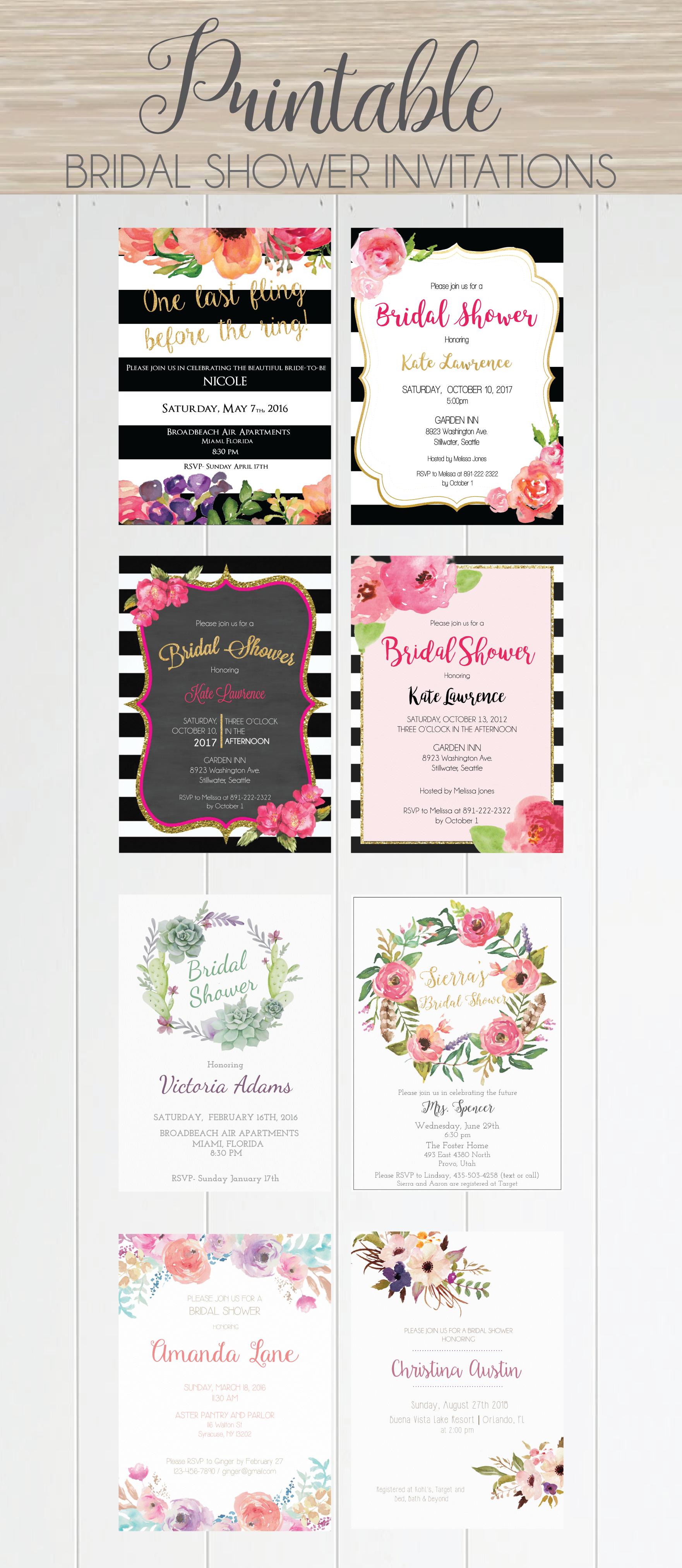 Beatiful selection of bridal shower invitations, at affortable ...