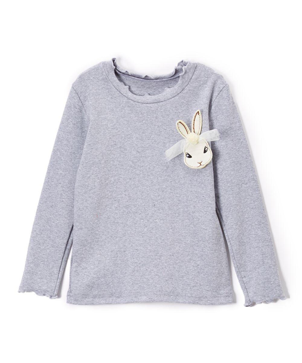 Gray Bunny Long-Sleeve Tee