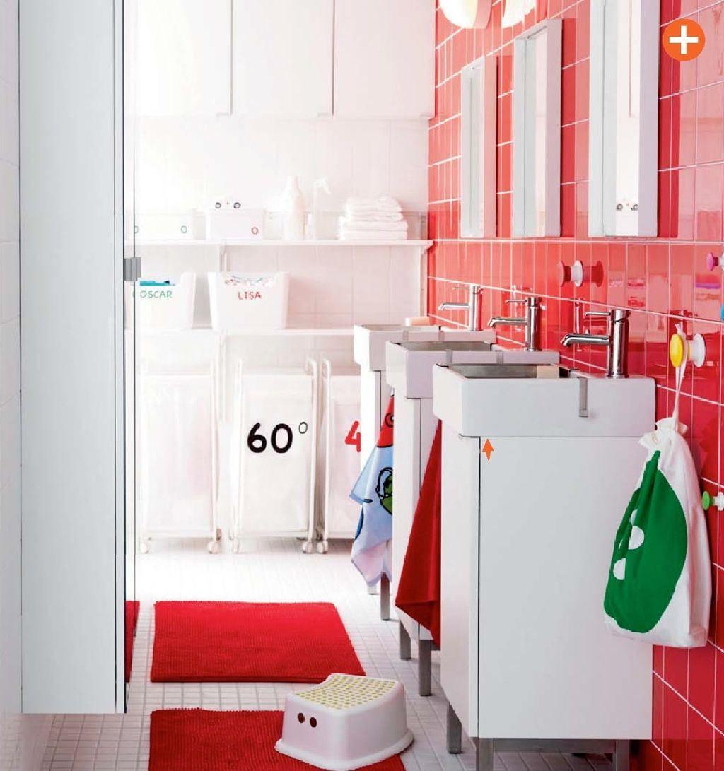Crvena Kupaonica Ikea Domidizajnjutarnjihr Inspiracije