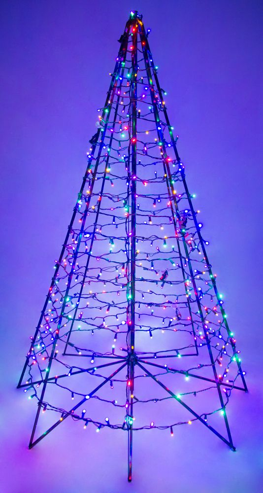 6 metal frame christmas tree w 450 multi color lights
