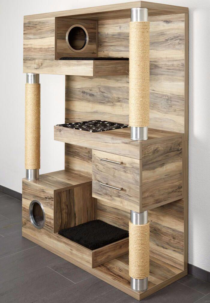 Estás pensando en construir un mueble casero para tu gato? Echa un ...