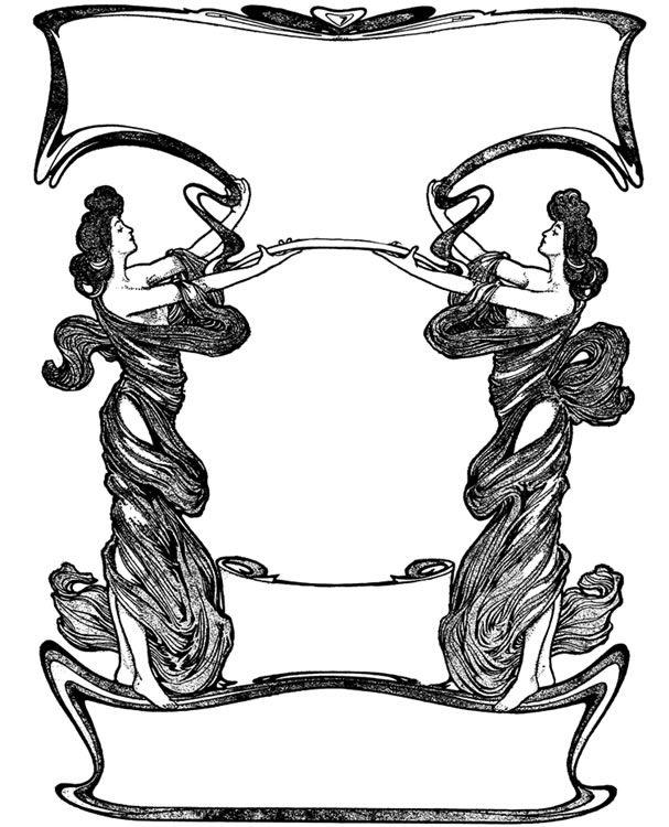 welcome to dover publications art nouveau decorative borders and rh pinterest com dover clip art images dover clip art construction