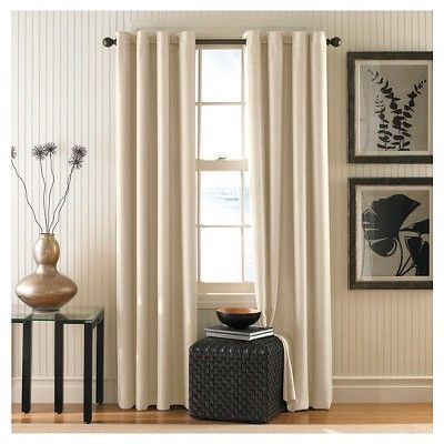 Curtainworks Monterey Lined Curtain Panel Alabaster 95