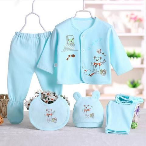 5ae1c01a27963 Cartoon Underwear 100% Cotton Newborn Baby 0-3M Clothing Set Brand Baby Boy/Girl  Clothes 5pcs/set