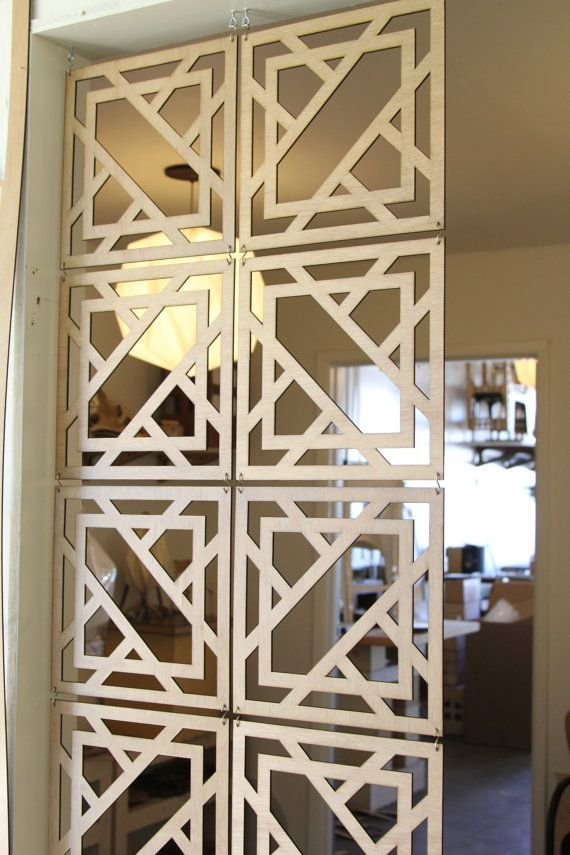 Decorative Wood Screen Kits In Walnut Birch Various Sizes Hanging Room Divider Home Decor Interior