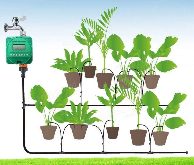 Rain Sensor Automatic Watering Timer Garden Flower Plant Program Irrigation Timing Controller Irrigation Timer Sprinkler Irrigation Drip Irrigation