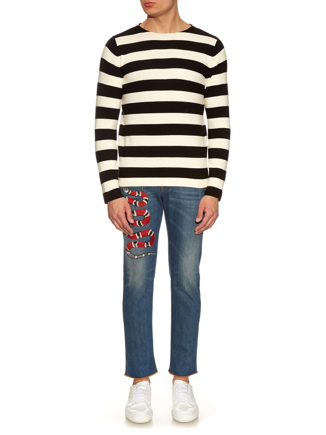 GUCCI Striped cotton crew-neck sweater €650