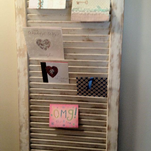 Shutter Greeting Card Holder For The Home Pinterest