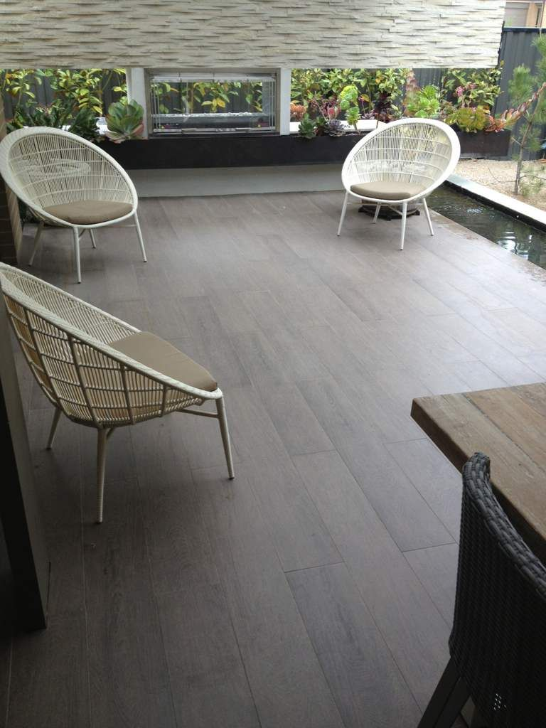 Timber look tiles for alfresco for the home pinterest has anyone used timber look tiles for their entrance way exterior we were wanting merbau decking but a builder friend is swaying us toward timber baanklon Images
