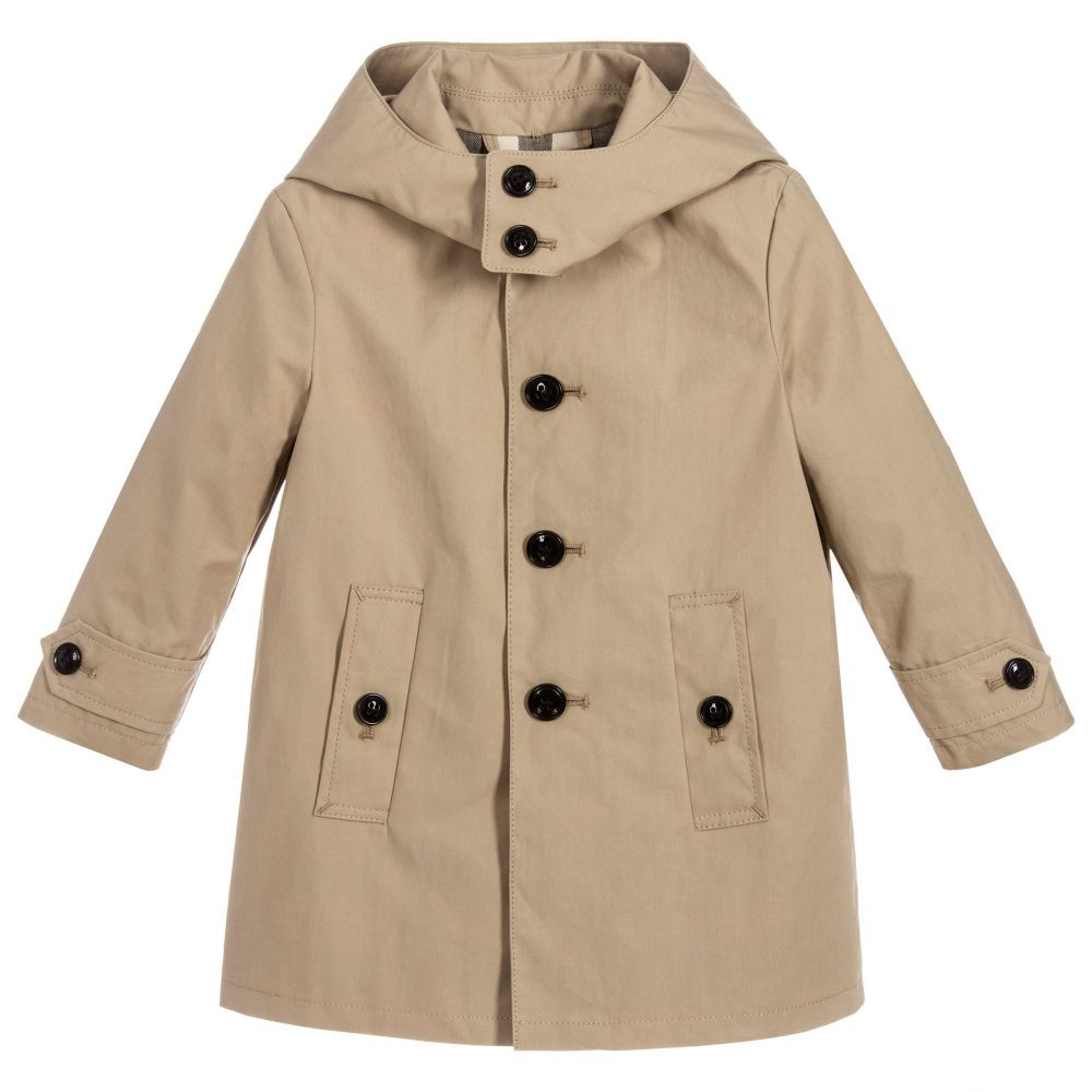4c9c3714d Baby Boys Cotton BRADLEY Coat for Boy by Burberry. Discover the latest designer  Coats & Jackets for kids
