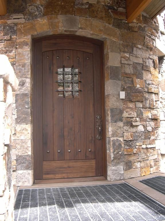 Rustic Entrance Doors | Description: Rustic Walnut Entry Door with ...