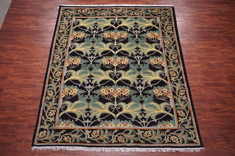 William Morris 8x10 Art Craft Hand Knotted Oriental Area Rug