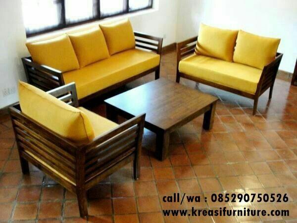 Kursi Tamu Sofa Jok Kuning Wooden Sofa Set Designs
