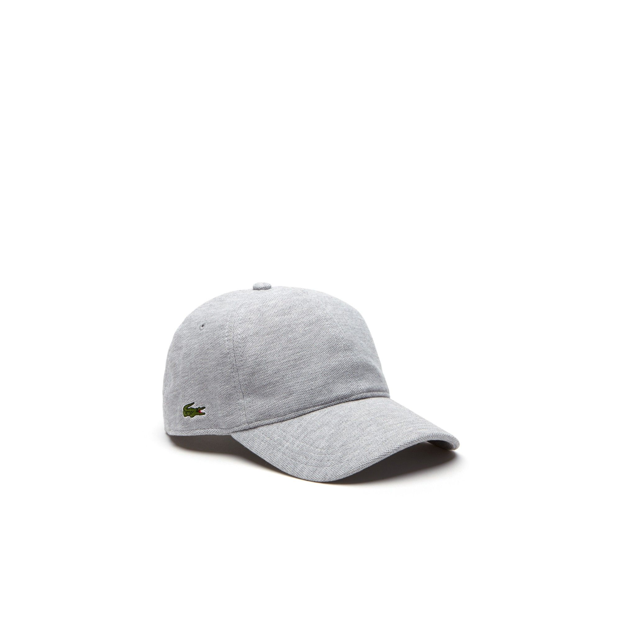 Lacoste Men s Cotton Pique Cap - Silver Grey Chine L Gray 6f6aeb57e338