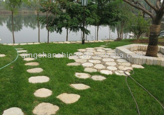Slate Circle Garden Round Flagstone Stepping Stone
