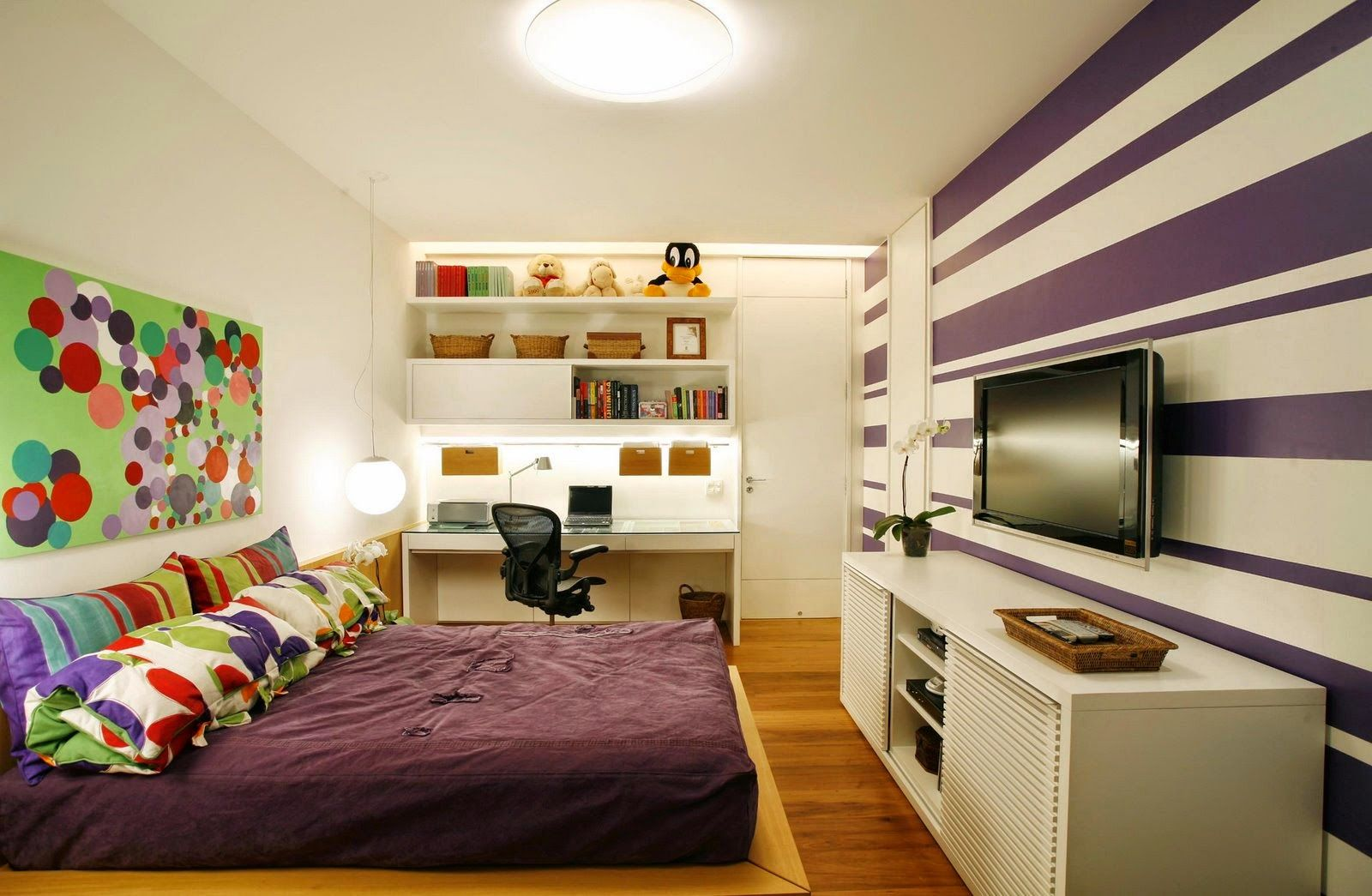 Dormitorios con escritorios funcionales para estudiantes - Diseno de habitaciones modernas ...
