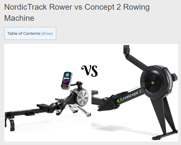 Nordictrack Rower Vs Concept 2 Features Pros And Cons Compared