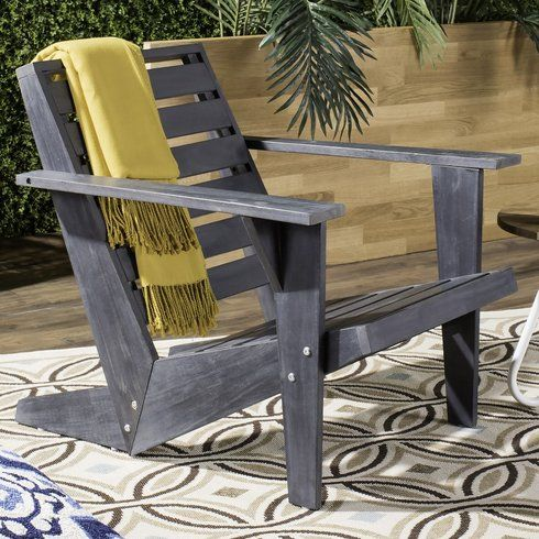 Dekalb Solid Wood Adirondack Chair With Images Wood Adirondack Chairs Adirondack Chair Rustic Furniture