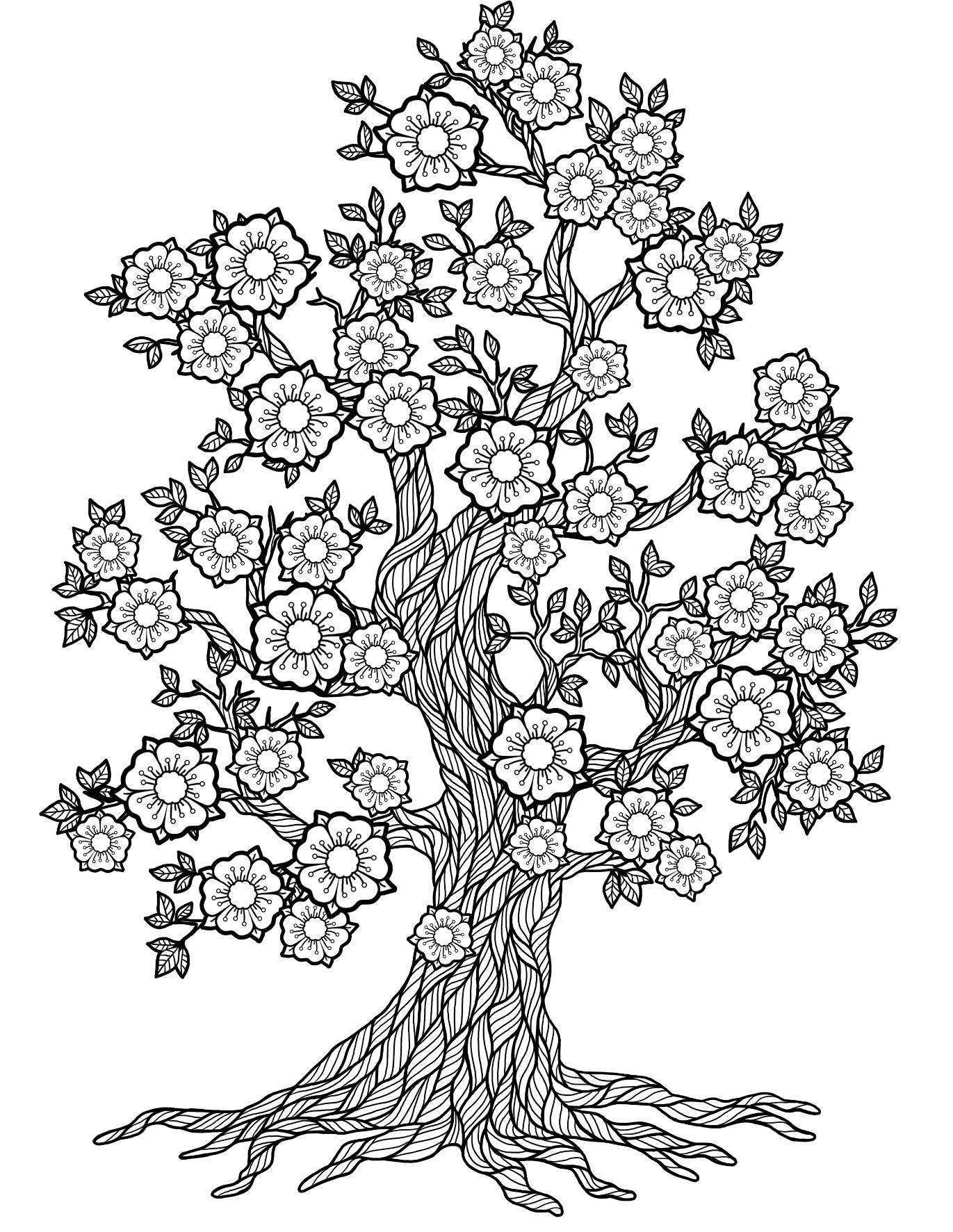 abstract trees coloring pages - photo#19