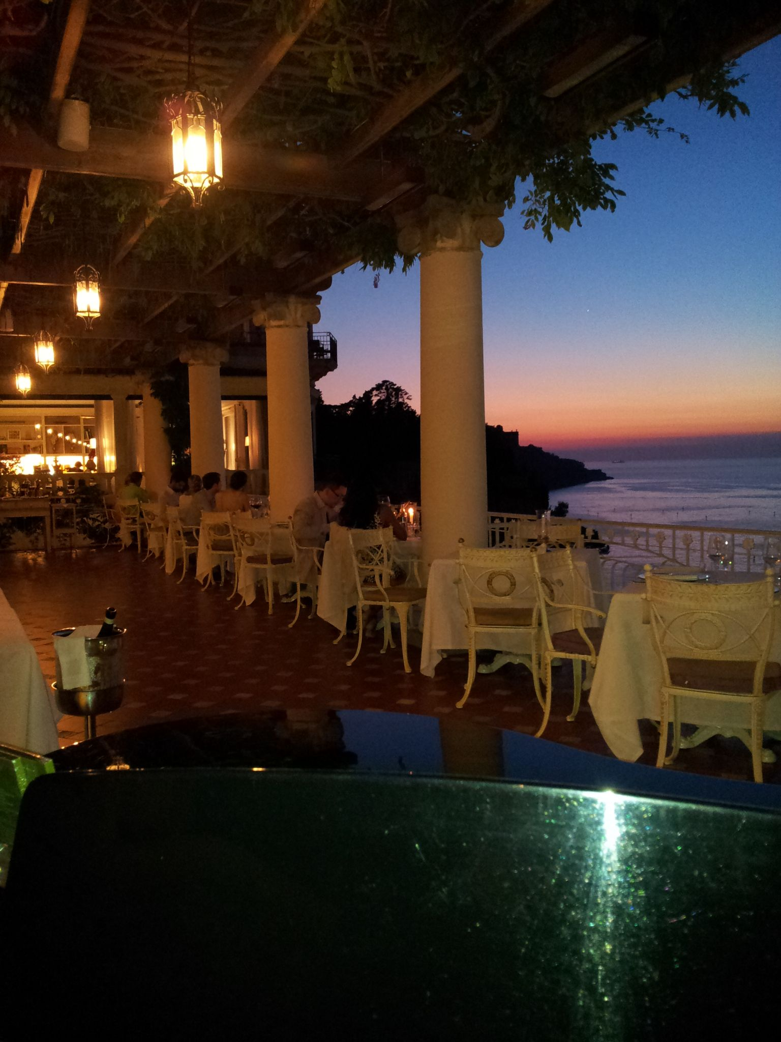 "Our Restaurant ""La Pergola"" at sunset...good food and"