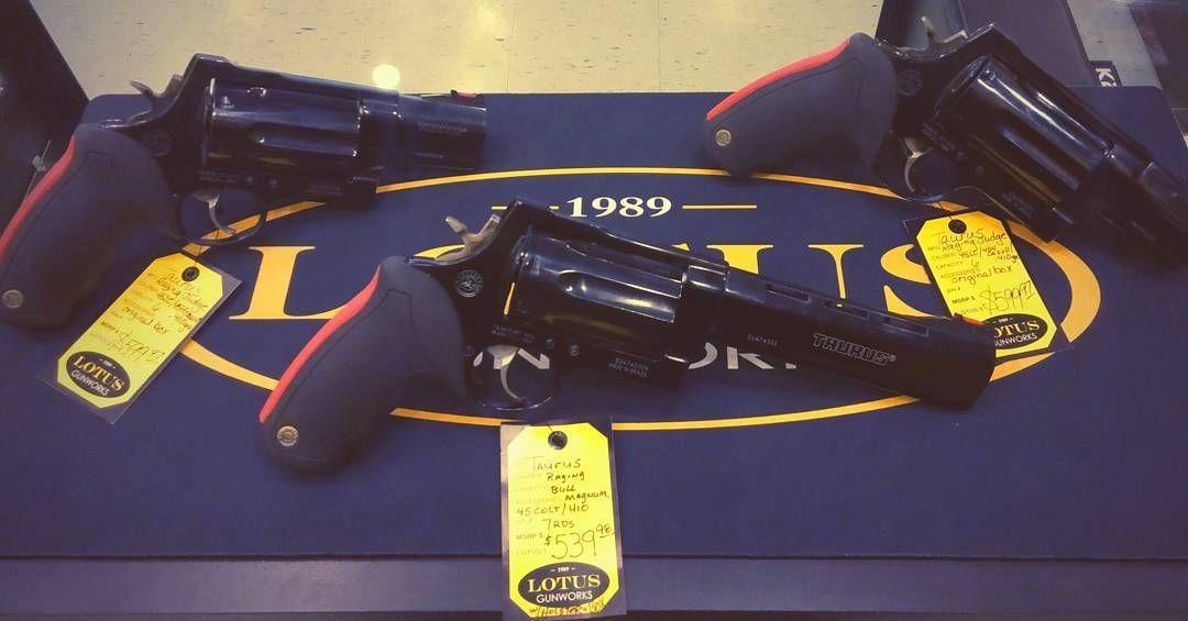 Used Taurus Revolvers...Raging Judge and Raging Judge Magnum...#lotusgunworkslouisville #2A #taurusfirearms #ragingjudge #ragingjudgemagnum