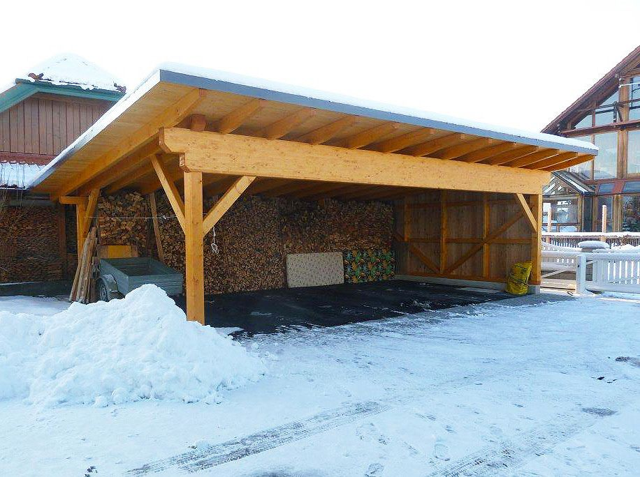 Carports Www Schmidholzbau At Carport Wooden Carports Shed Roof