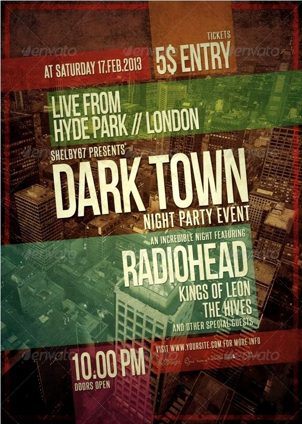 music event poster template - Google Search | poster | Pinterest ...