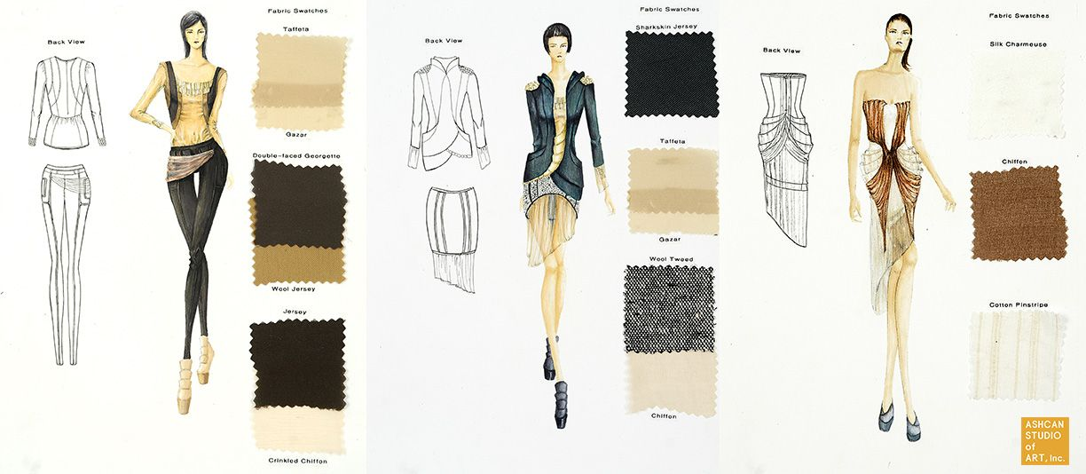 parsons fashion design portfolio examples google search drawing