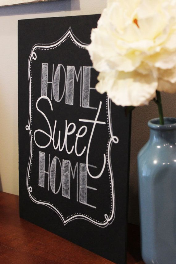 Home Decor - Chalkboard Signs Style at Home Pinterest