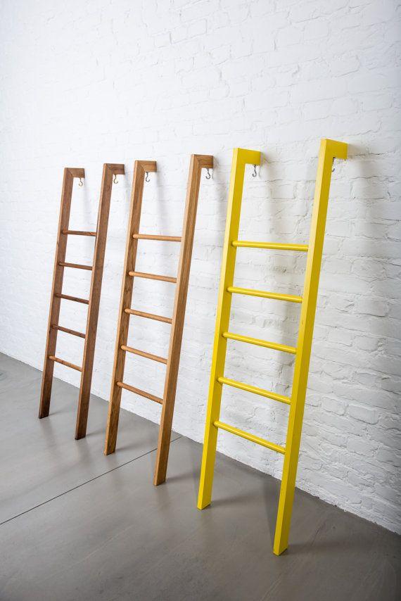 Tb 3 Modern Day Valet Stand Clothes Organiser In Oak Kleiderleiter Clothes Ladder Towel Ladder Handtuchhalter Stumme Diener Clothes Valets Diy Blanket Ladder Diy Clothes Rack