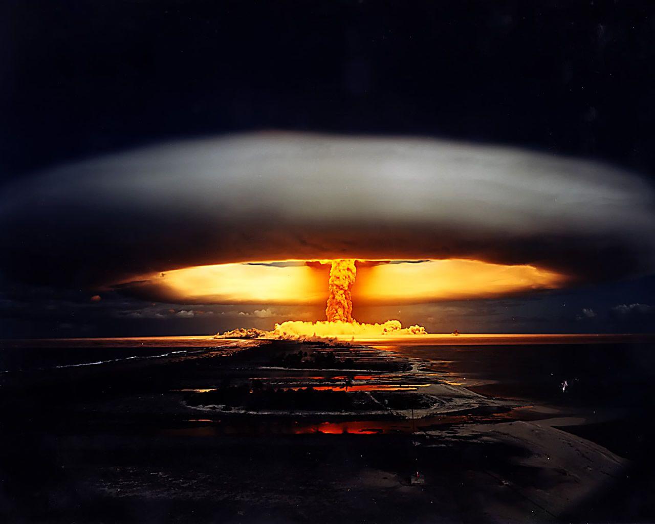 Fotografia Mushroom Cloud Nuclear Bomb Atomic Bomb