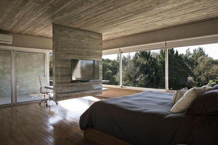 Die Idee für den Raumteiler dient als Schreibtisch und - wohnideen tv wand